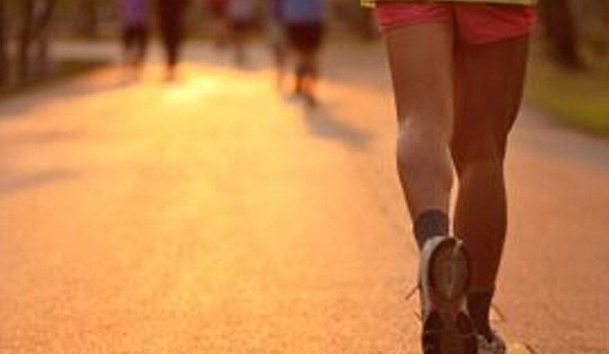Person running in a marathon